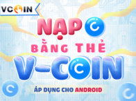 Nạp coin bằng thẻ Vcoin: Android